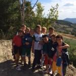 Minibasket in passeggiata a Rocca di Roffeno